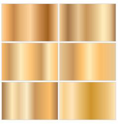 collection golden gradients vector image