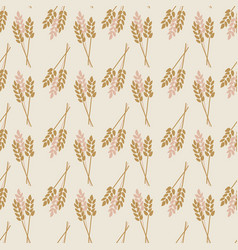 Crop oat wheat barley rye plant seamless vector