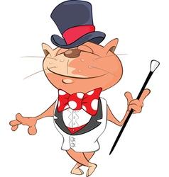 Cute Cat Gentleman Cartoon vector image
