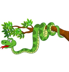 Cute snake cartoon vector