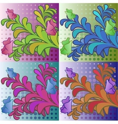 Decorative flower background vector image vector image