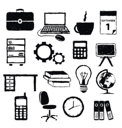 Doodle office images vector