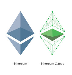 Ethereum logo set vector