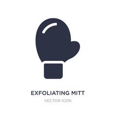 Exfoliating mitt icon on white background simple vector