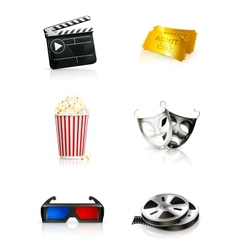 Film icon set vector image