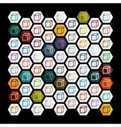 Flat design cube vector image