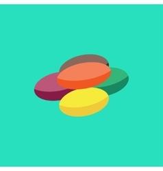 Flat lollipop icon vector image