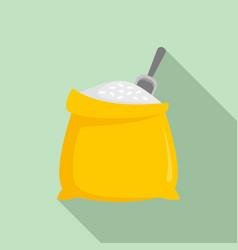 fresh rice sack icon flat style vector image