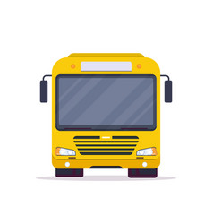 front view city bus vector image