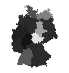 Germany map divided on regions for infographic vector