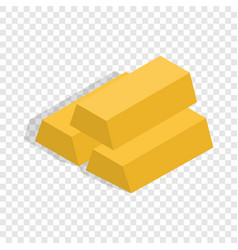 gold bars isometric icon vector image