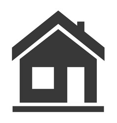 house black icon exterior cottage residence vector image