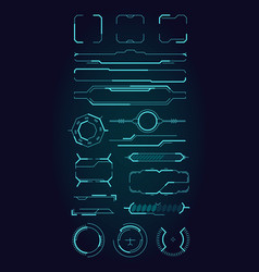 hud ui elements sci fi infographic modern space vector image