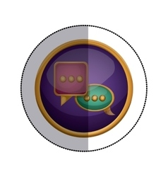 Isolated communication bubble design vector