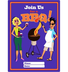 join us for a bbq vector image