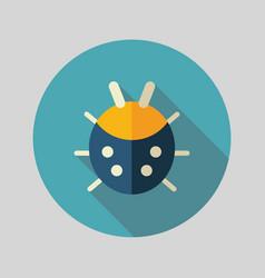 Ladybug flat icon vector