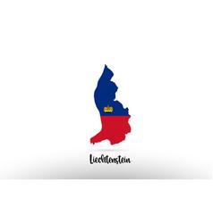 Liechtenstein country flag inside map contour vector
