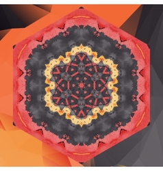 Mandala chakra flower design in red color vector