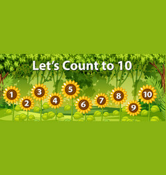 Mathematics count number forest background vector
