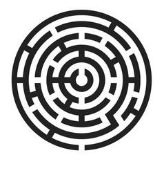 maze black round puzzle vector image