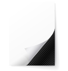 Metal grid under a sheet of paper vector image