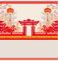 Mid-autumn festival for chinese new year card vector