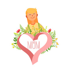 mothers day card template happy beautiful mother vector image