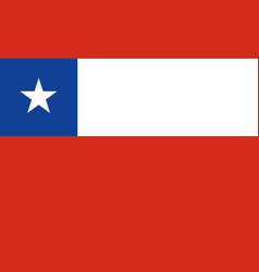 National flag chile vector