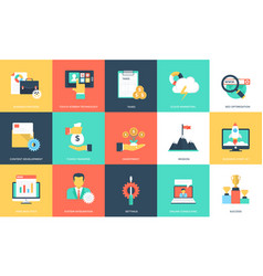 Project management icons pack vector