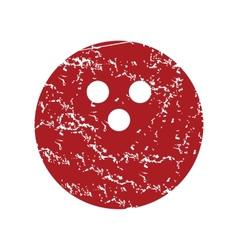 Red grunge bowling logo vector image