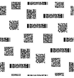 Seamless black and white pattern with barcodes vector