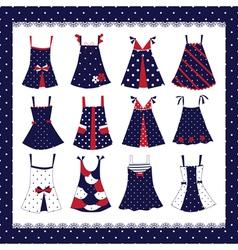 set dresses vector image
