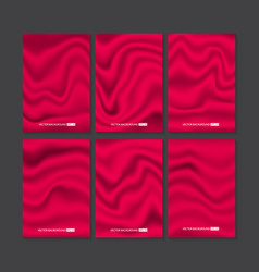 Set of red silk texture vector