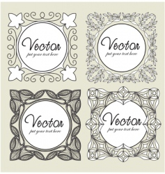 set vintage labels vector image