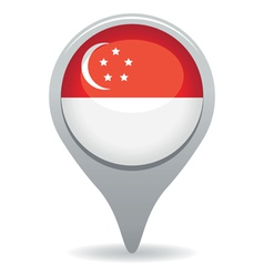 Singapore flag pointer vector