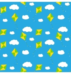 Sky Dragon and Cloud Seamless Pattern Background vector