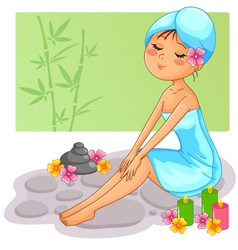 spa girl vector image