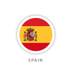 Spain circle flag template design vector