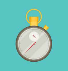 Stopwatch flat icon vector