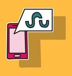 stumbleupon color glossy icon realistic icon logo vector image