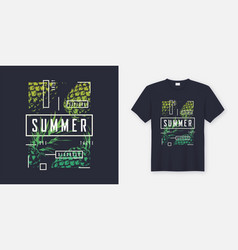 Summer t-shirt and apparel modern design with vector