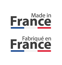two simple symbols made in france signs vector image