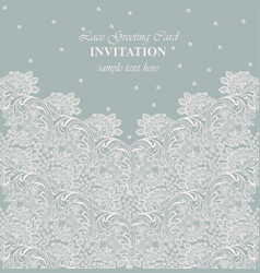 vintage lace background intricate handmade vector image