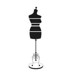 Vintage tailors mannequin with size measurements vector