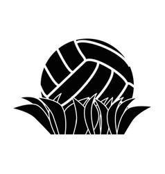 Voleyball ball symbol vector
