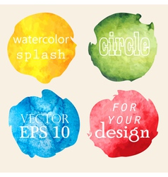 Watercolor hand painted circles vector