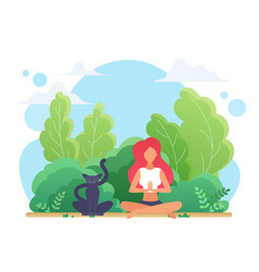 yoga lotus pose young woman sitting in lotus zen vector image