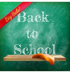 Back to school sale plus EPS10 vector image