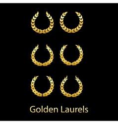 Golden laurels vector image vector image