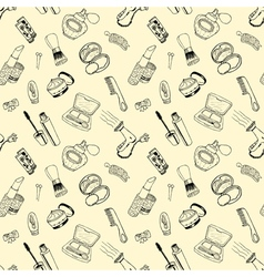 Seamless pattern with cosmetic vector image